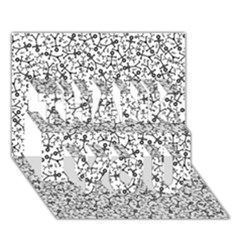 Crowd Icon Random THANK YOU 3D Greeting Card (7x5)