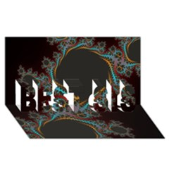 Dream In Fract Best Sis 3d Greeting Card (8x4)
