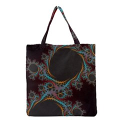 Dream In Fract Grocery Tote Bags