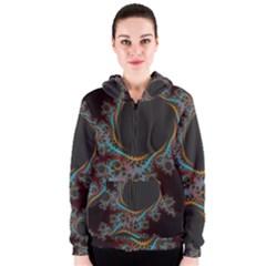 Dream in Fract Women s Zipper Hoodies