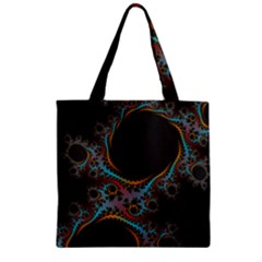 Dream In Fract Zipper Grocery Tote Bags