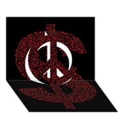 Dollar People Icon Peace Sign 3D Greeting Card (7x5)