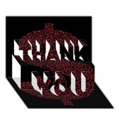 Dollar People Icon Thank You 3d Greeting Card (7x5)