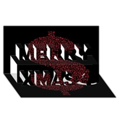 Dollar People Icon Merry Xmas 3D Greeting Card (8x4)