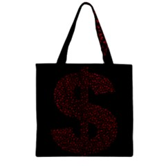 Dollar People Icon Zipper Grocery Tote Bags