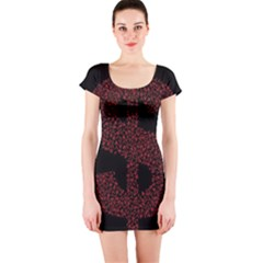 Dollar People Icon Short Sleeve Bodycon Dresses