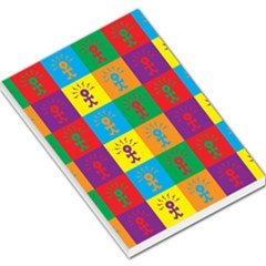 Multi Coloured Lots Of Angry Babies Icon Large Memo Pads