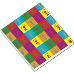 Multi Coloured Lots Of Angry Babies Icon Small Memo Pads