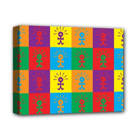 Multi Coloured Lots Of Angry Babies Icon Deluxe Canvas 14  x 11