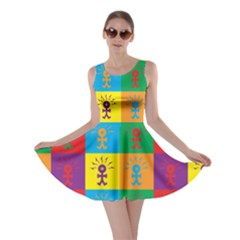 Multi Coloured Lots Of Angry Babies Icon Skater Dresses
