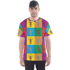 Multi Coloured Lots Of Angry Babies Icon Men s Sport Mesh Tees