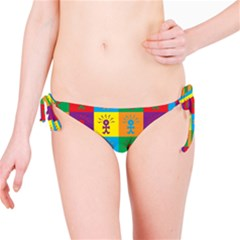 Multi Coloured Lots Of Angry Babies Icon Bikini Bottoms