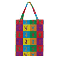 Multi Coloured Lots Of Angry Babies Icon Classic Tote Bags