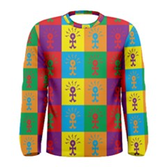 Multi Coloured Lots Of Angry Babies Icon Men s Long Sleeve T-shirts