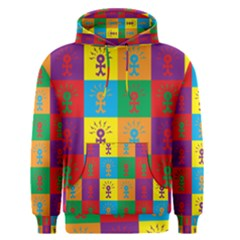 Multi Coloured Lots Of Angry Babies Icon Men s Pullover Hoodies