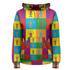 Multi Coloured Lots Of Angry Babies Icon Women s Pullover Hoodies