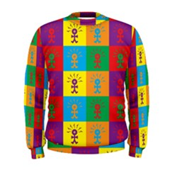 Multi Coloured Lots Of Angry Babies Icon Men s Sweatshirts