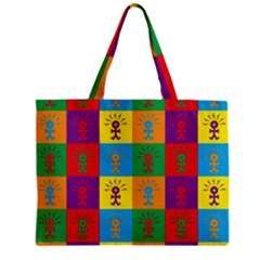 Multi Coloured Lots Of Angry Babies Icon Zipper Tiny Tote Bags