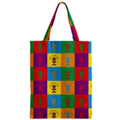Multi Coloured Lots Of Angry Babies Icon Zipper Classic Tote Bags