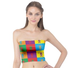Multi Coloured Lots Of Angry Babies Icon Women s Tube Tops