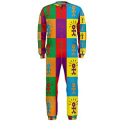 Multi Coloured Lots Of Angry Babies Icon OnePiece Jumpsuit (Men)
