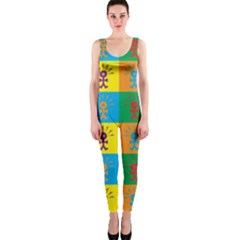 Multi Coloured Lots Of Angry Babies Icon OnePiece Catsuits
