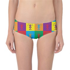 Multi Coloured Lots Of Angry Babies Icon Classic Bikini Bottoms