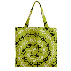Spiral Icon Zipper Grocery Tote Bags