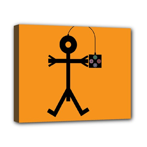 Video Gaming Icon Canvas 10  x 8
