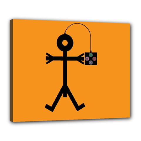 Video Gaming Icon Canvas 20  X 16
