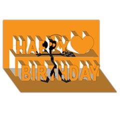 Video Gaming Icon Happy Birthday 3D Greeting Card (8x4)