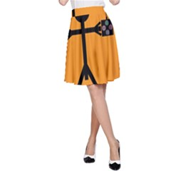 Video Gaming Icon A-Line Skirts