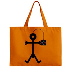 Video Gaming Icon Zipper Tiny Tote Bags