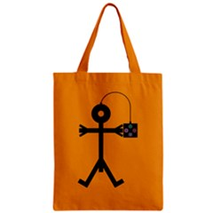 Video Gaming Icon Zipper Classic Tote Bags