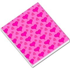 Hearts Pink Small Memo Pads