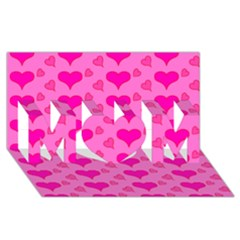 Hearts Pink Mom 3d Greeting Card (8x4)