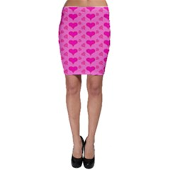 Hearts Pink Bodycon Skirts