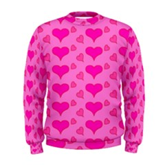 Hearts Pink Men s Sweatshirts