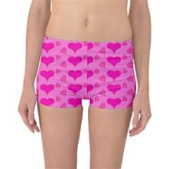 Hearts Pink Boyleg Bikini Bottoms