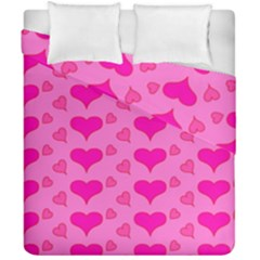Hearts Pink Duvet Cover (double Size)
