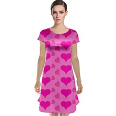Hearts Pink Cap Sleeve Nightdresses