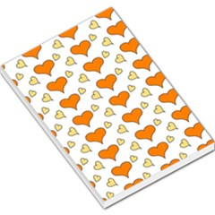 Hearts Orange Large Memo Pads