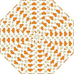 Hearts Orange Hook Handle Umbrellas (Small)