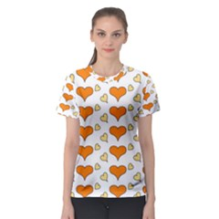 Hearts Orange Women s Sport Mesh Tees