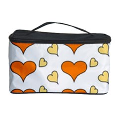 Hearts Orange Cosmetic Storage Cases