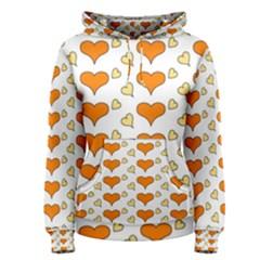 Hearts Orange Women s Pullover Hoodies
