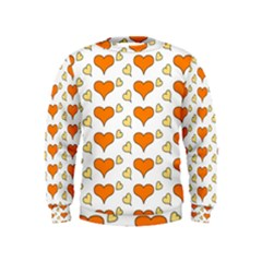 Hearts Orange Boys  Sweatshirts