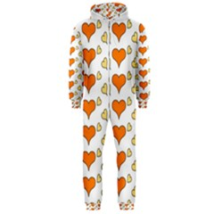 Hearts Orange Hooded Jumpsuit (Men)