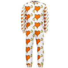 Hearts Orange Onepiece Jumpsuit (men)