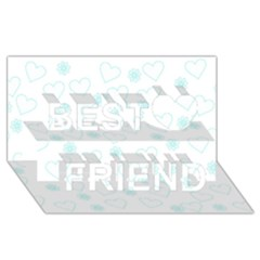 Flowers And Hearts Best Friends 3D Greeting Card (8x4)